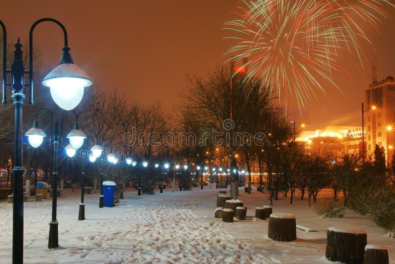 Download Nightscop park obraz stock. Obraz złożonej z footpath - 13336377