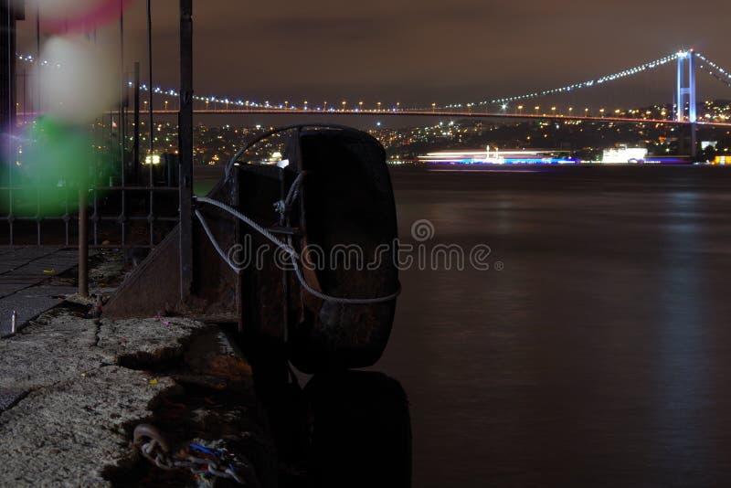 Nightshot Стамбул стоковое фото