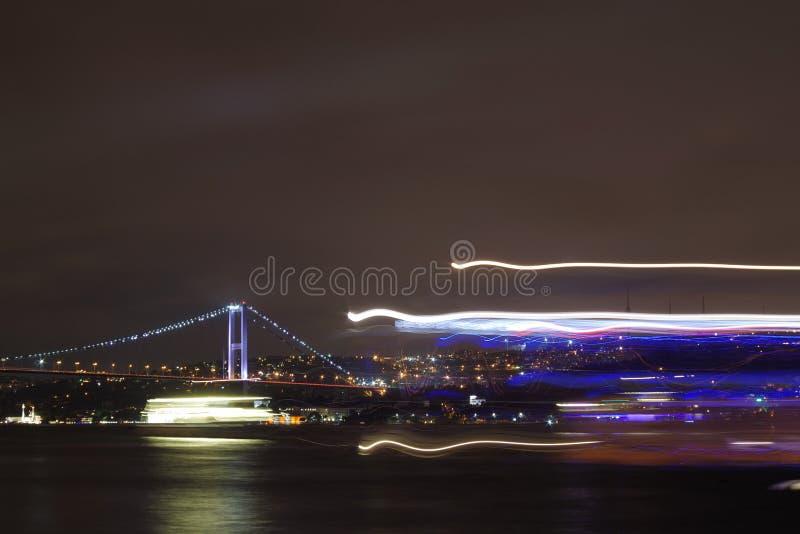 Nightshot с неоновым светом стоковое фото rf