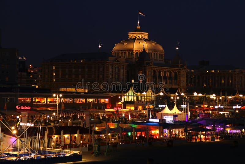 Nightshot boulevard of schevingen. Boulevard scheveningen atnight. Nightshot van de boulevard van scheveningen stock photos