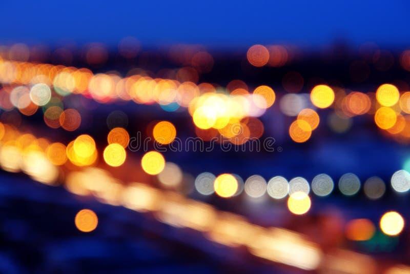 Nightshot degli indicatori luminosi di via immagine stock libera da diritti