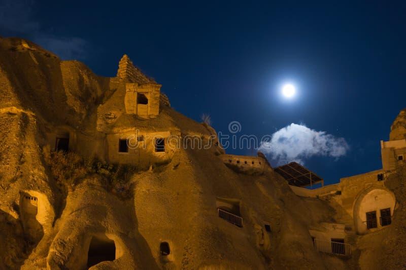 Nightshot of goreme cappadocia. Nightshot photo taken in goreme cappadocia royalty free stock images