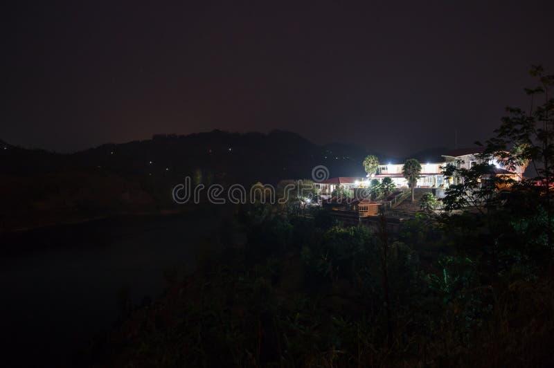Nightshot of a Resort at Lake Kivu, Kibuye, Rwanda. Nightshot of a Resort at Lake Kivu, Kibuye in Rwanda stock photography