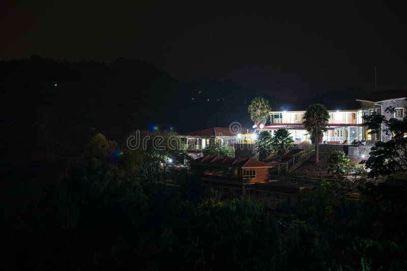 Nightshot of a Resort at Lake Kivu, Kibuye, Rwanda. Nightshot of a Resort at Lake Kivu, Kibuye in Rwanda stock photo