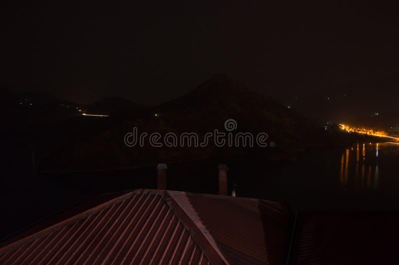 Nightshot of a Resort at Lake Kivu, Kibuye, Rwanda. Nightshot of a Resort at Lake Kivu, Kibuye in Rwanda royalty free stock photo