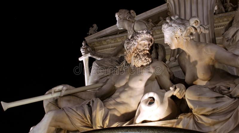 Download Nightshot Sculpture Of A Man A Woman Royalty Free Stock Image - Image: 22958636