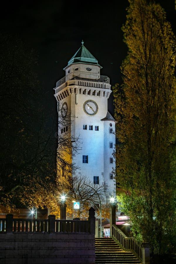 Nightshow de la torre de Kasino en Berlin Frohnau foto de archivo libre de regalías