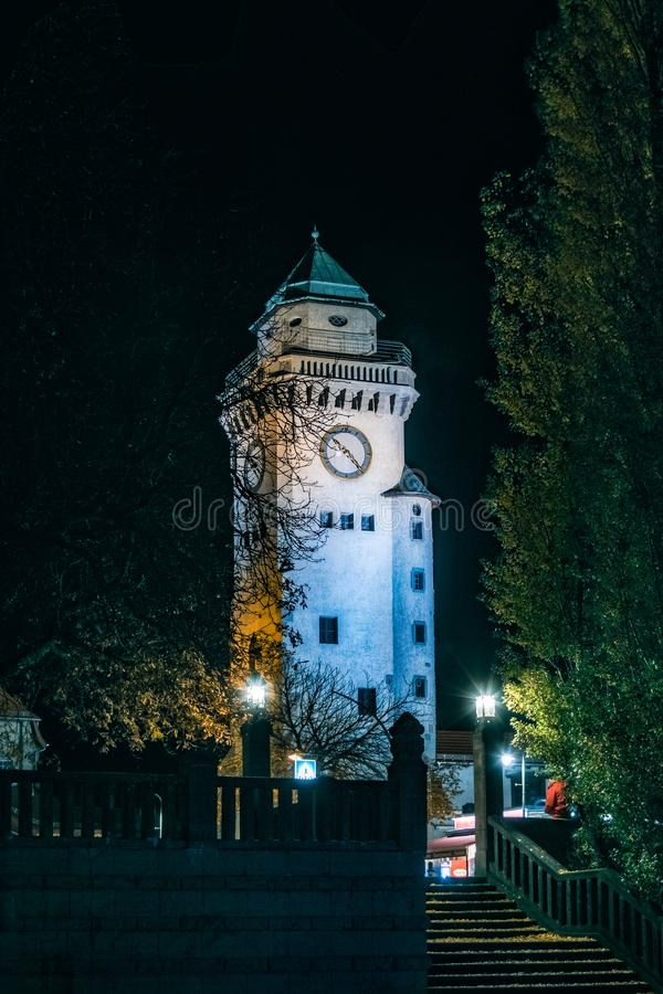 Nightshow de la torre de Kasino en Berlin Frohnau imágenes de archivo libres de regalías