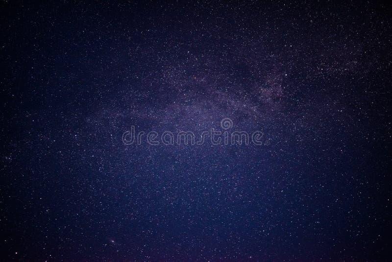 Nightsky con le stelle in Norvegia fotografia stock
