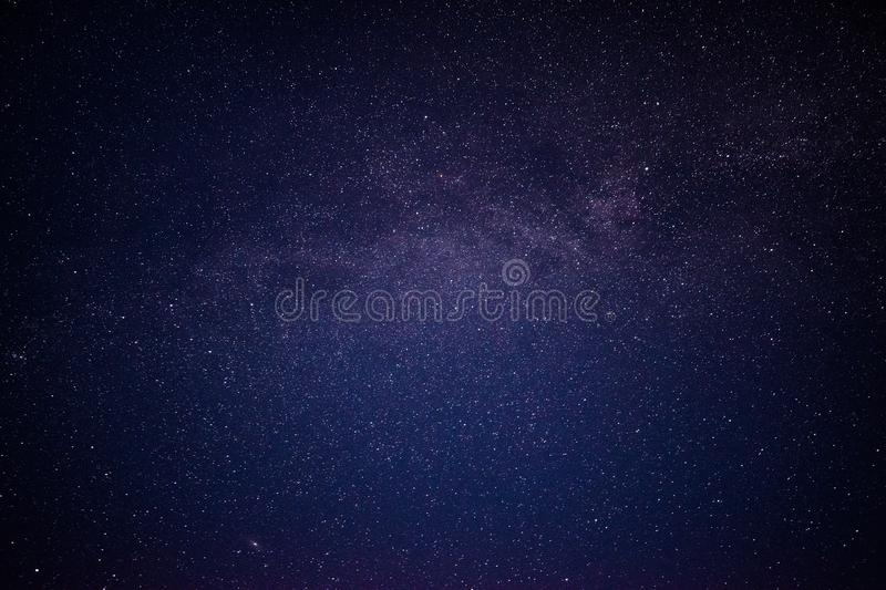 Nightsky with stars in Norway stock photo
