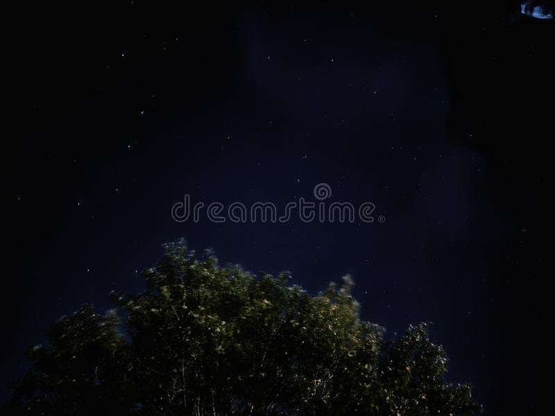 Nightsky watching in Moscow stock photo