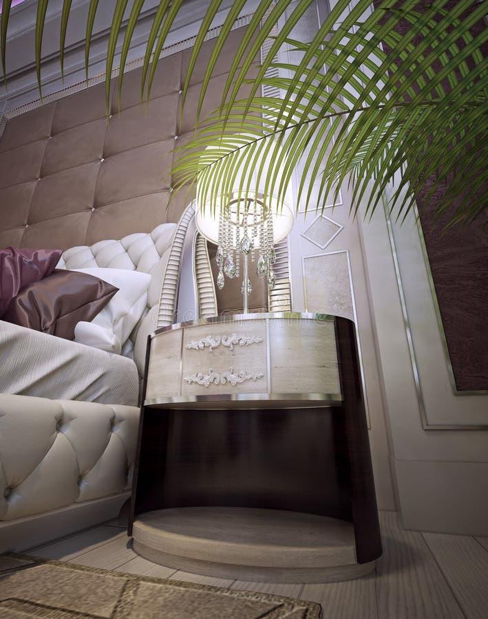 Nightstands et tables de chevet dans un style classique luxueux image stock