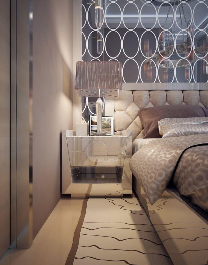 Nightstands et tables de chevet dans un style moderne luxueux photographie stock libre de droits