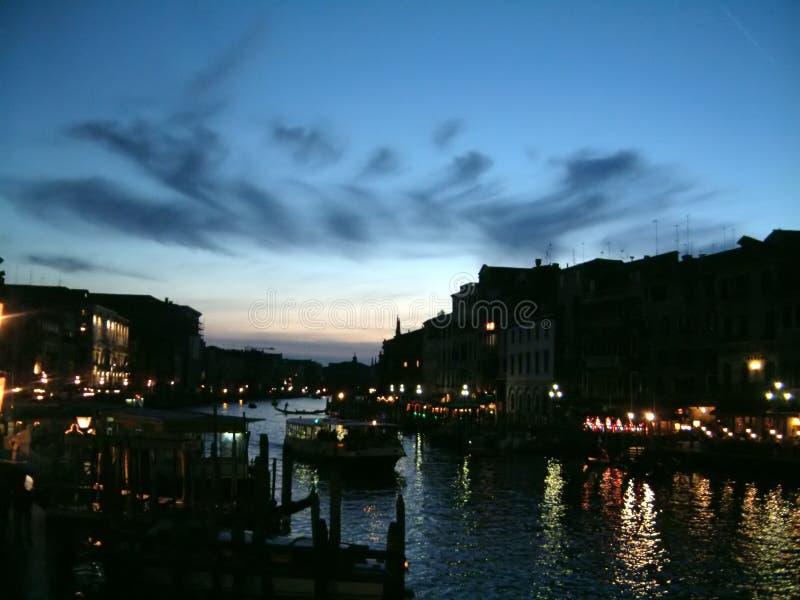nighttime канала грандиозный стоковое изображение