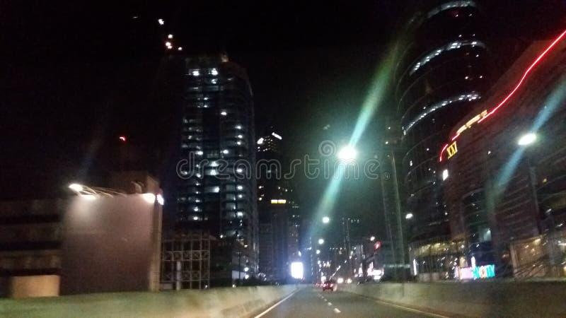 nighttime на мосте Касабланки стоковые фотографии rf