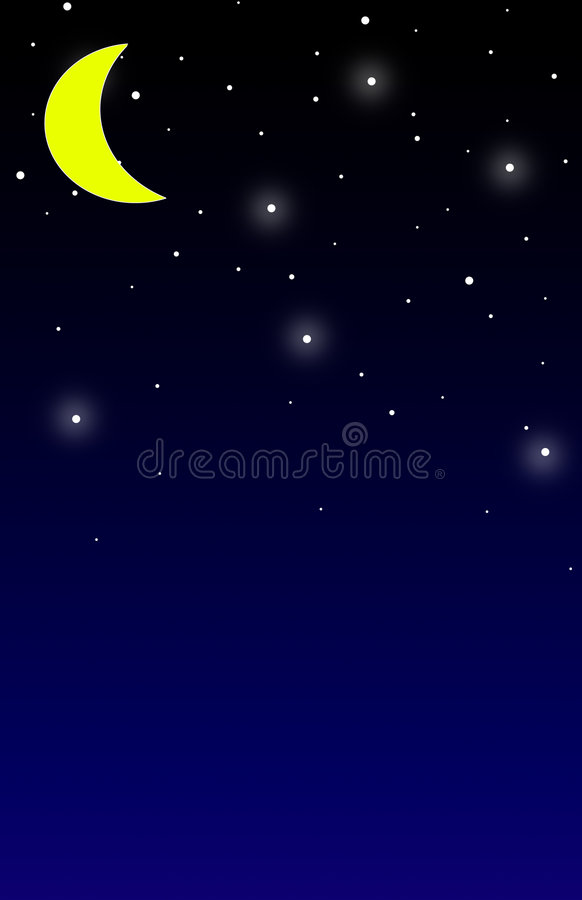 Nighttime Background royalty free illustration