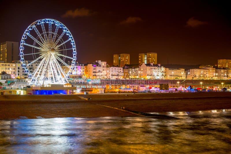 Nighttime Brighton obrazy royalty free