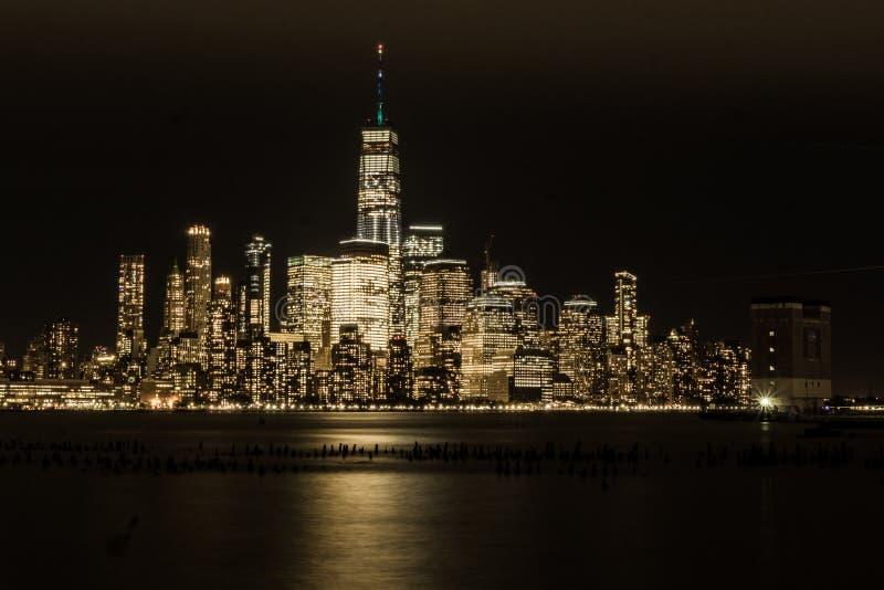 Nighttime in Gotham royalty free stock photos