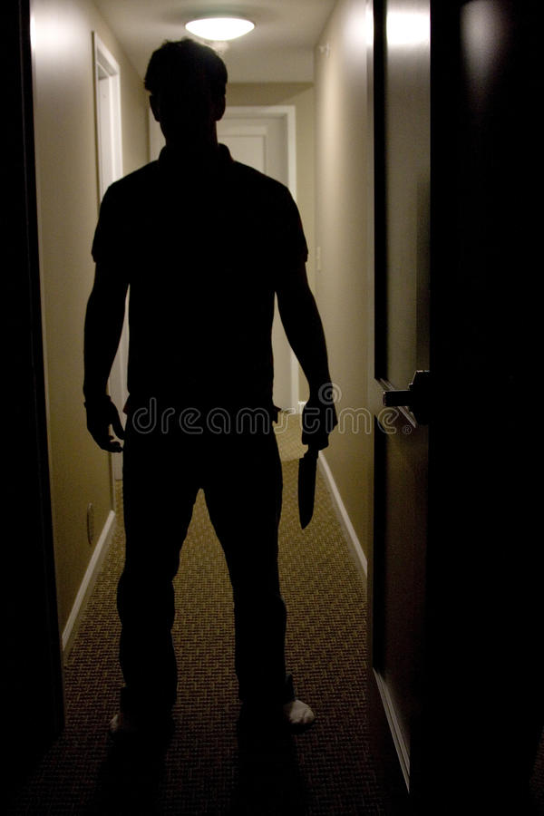 Man With Knife royalty free stock photos