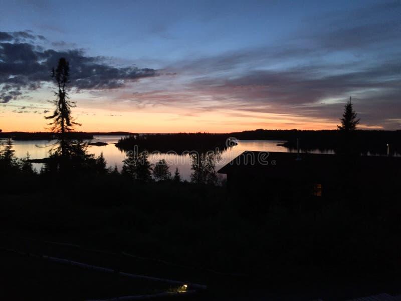 Nighttime jezioro obrazy stock