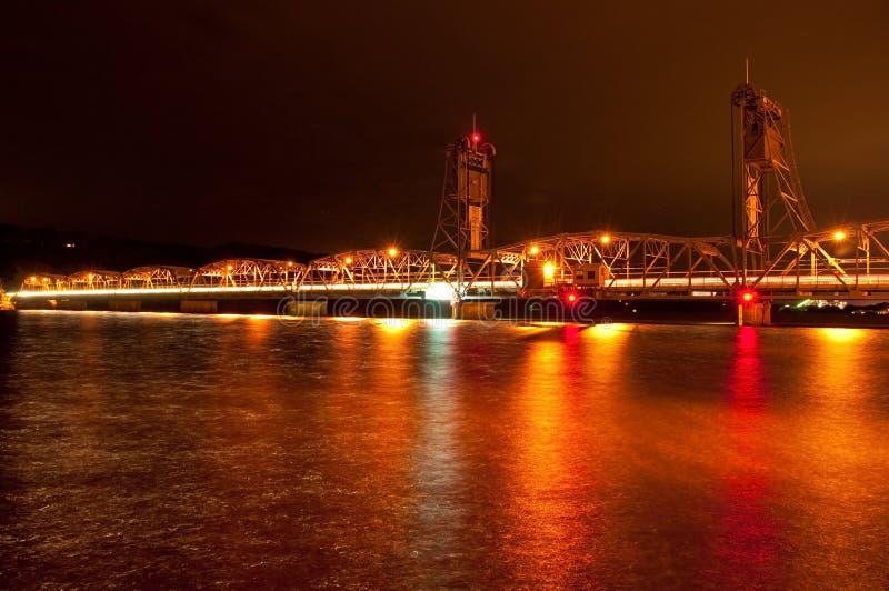 Download Nighttime Liftbridge stock image. Image of city, lift - 16021033