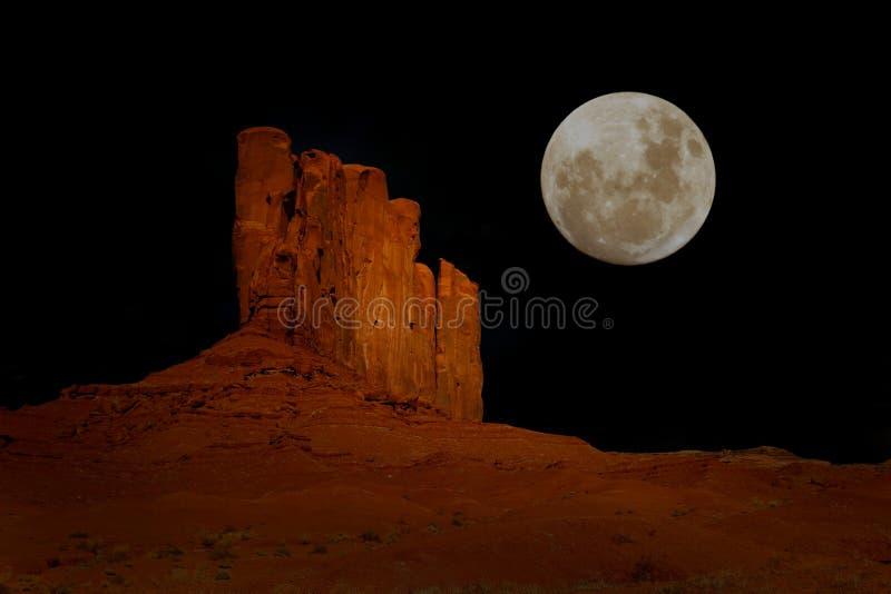 Nighttime in Monument Valley Arizona stock photo