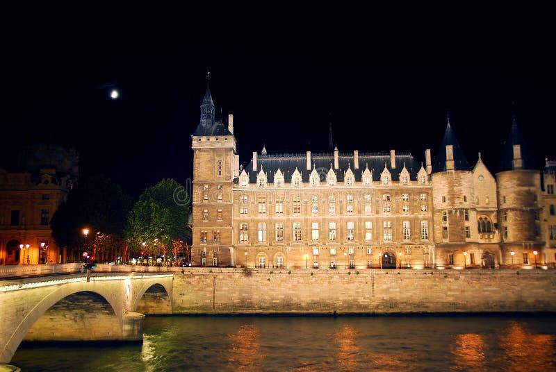 Nighttime Paris fotografia de stock royalty free
