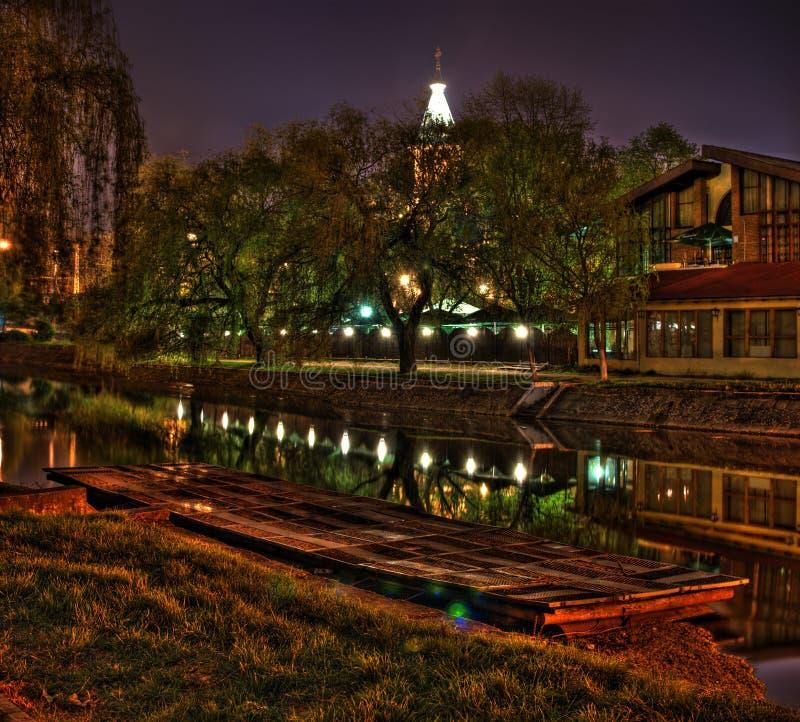 Nighttime reflections stock image