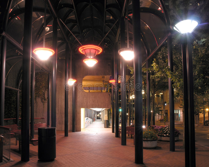 Nighttime Sidewalk royalty free stock photo