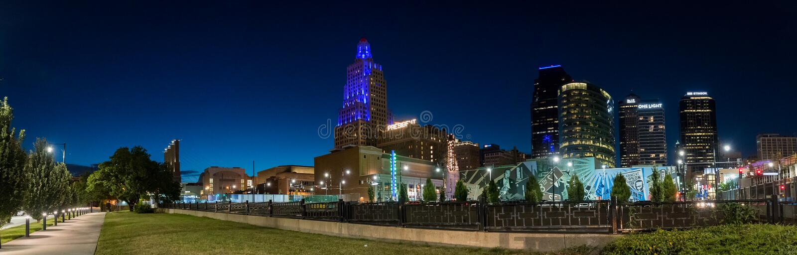Nighttime view of the power and light district in kansas city download nighttime view of the power and light district in kansas city missouri editorial stock aloadofball Image collections
