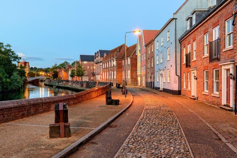 Nighttime w Norwich zdjęcie royalty free