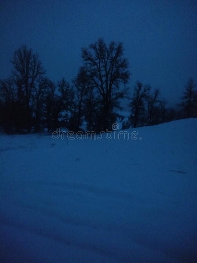 Nighttime zima fotografia stock
