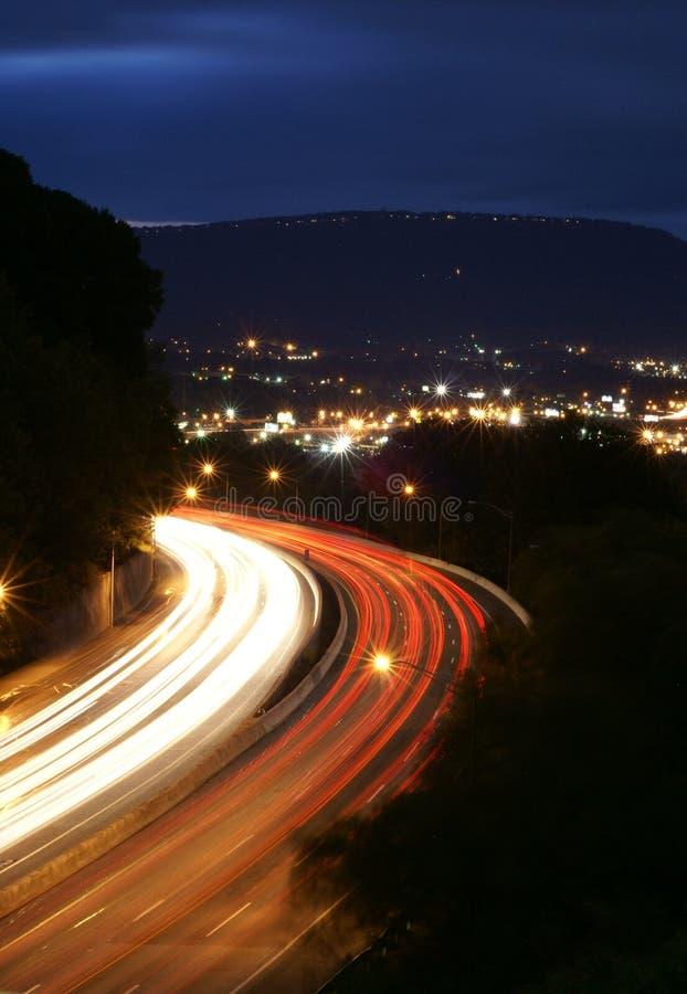 nighttraffic 免版税库存照片