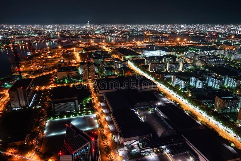 Nightview залива Осака стоковая фотография
