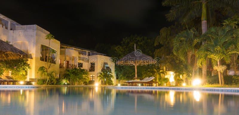 Nightview Kenya Afrique d'appartements de vacances photographie stock