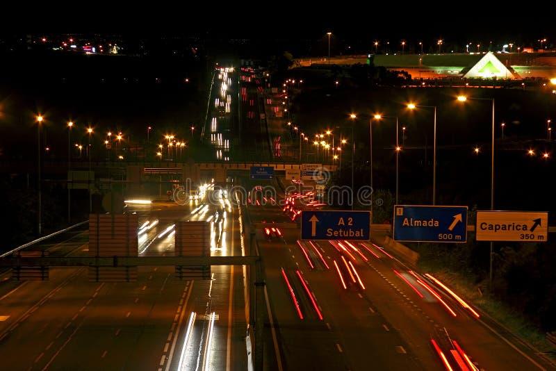 Nightview na estrada imagens de stock royalty free