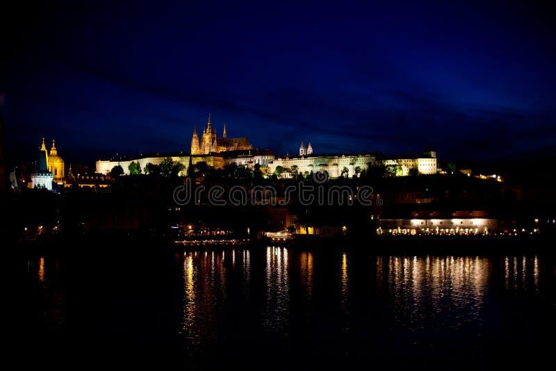 Download Nightview of Prague stock photo. Image of building, praha - 20481988