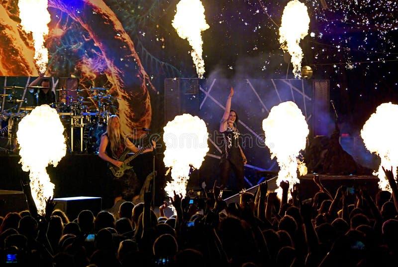 Nightwish Finse band op stadium stock fotografie