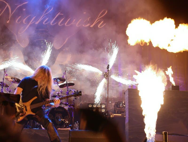 Nightwish on Masters of Rock. Festival 2009, Vizovice, Czech republic royalty free stock images