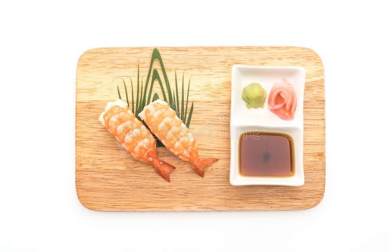 nigiri dei sushi del gamberetto - stile giapponese dell'alimento fotografia stock