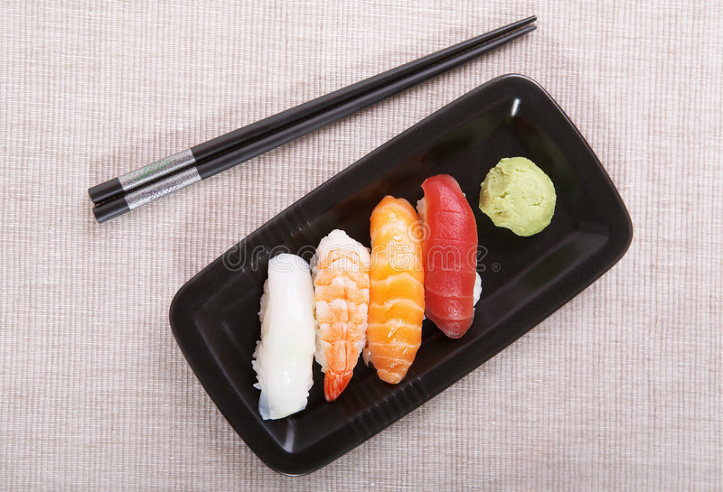 Nigiri do sushi fotografia de stock royalty free