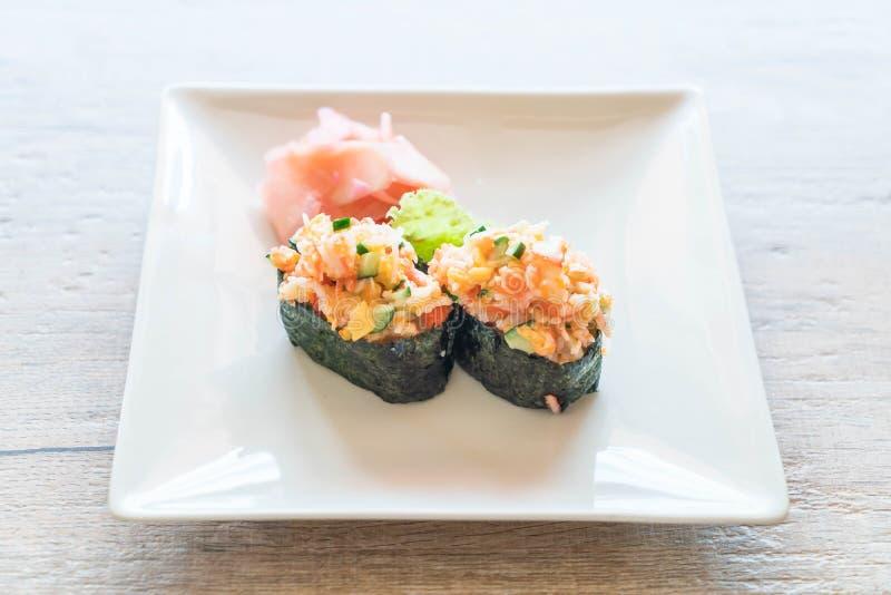 nigiri misto dei sushi fotografia stock