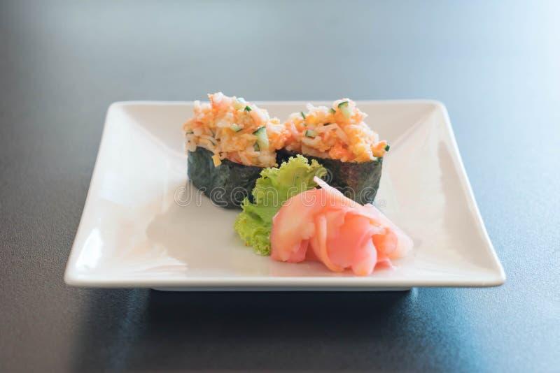 nigiri misto dei sushi fotografie stock libere da diritti