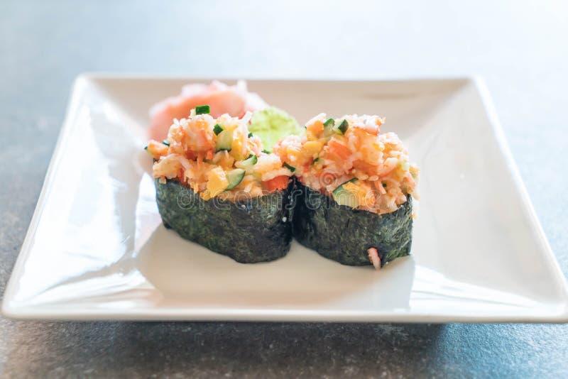 nigiri misto dei sushi fotografia stock libera da diritti