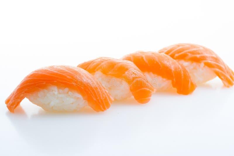 Nigiri Salmon do sushi foto de stock royalty free