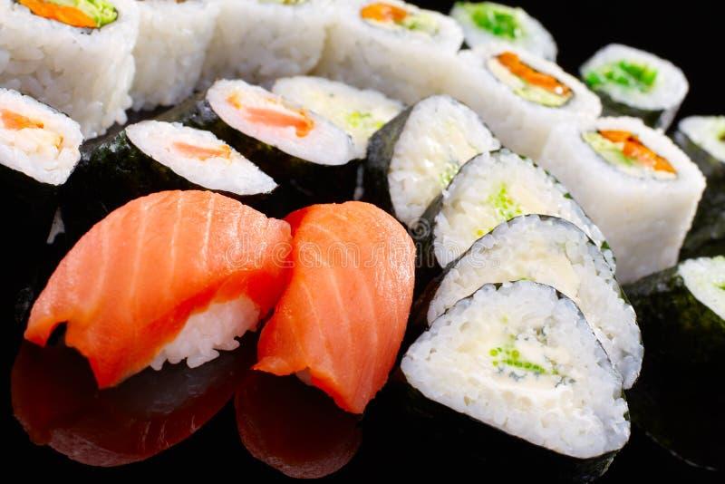 Nigiri sushi arkivfoton