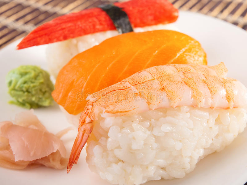 nigiri sushi obraz royalty free