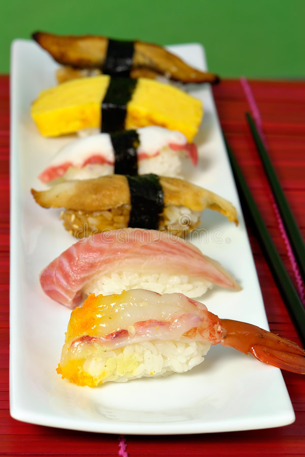 Nigiri sushi royalty free stock photos