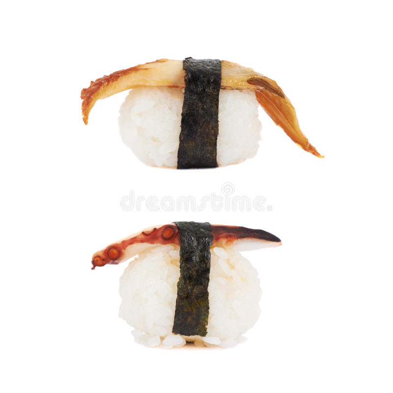 Nigirizushi de sushi d'isolement photo stock