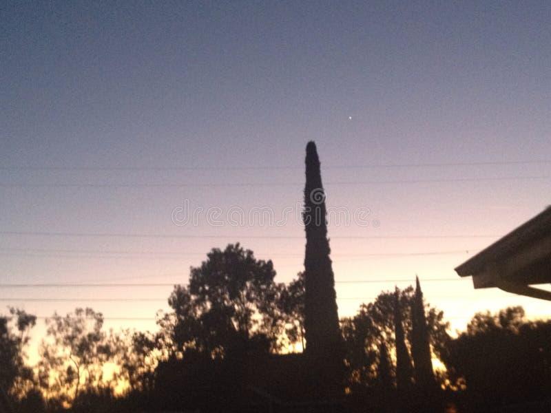Nigt in Escondido Kalifornien lizenzfreie stockfotos